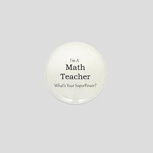 Math Teacher Mini Button