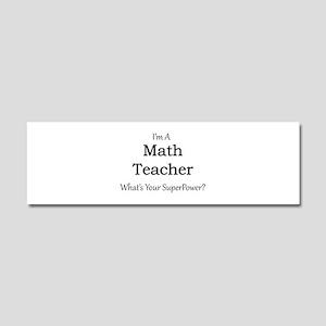 Math Teacher Car Magnet 10 x 3
