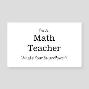 Math Teacher Rectangle Car Magnet