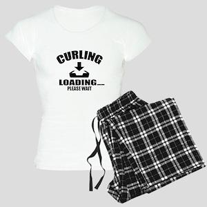 Curling Loading Please Wait Women's Light Pajamas
