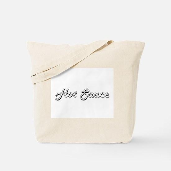 Hot Sauce Classic Retro Design Tote Bag