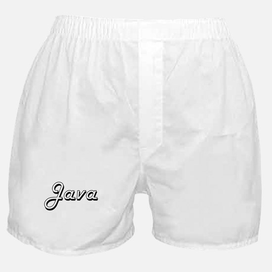 Java Classic Retro Design Boxer Shorts