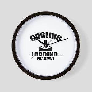 Curling Loading Please Wait Wall Clock