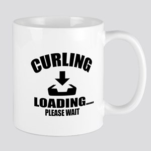 Curling Loading Please Wait 11 oz Ceramic Mug