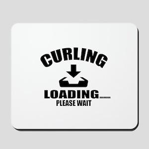 Curling Loading Please Wait Mousepad
