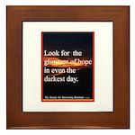 Glimmer Of Hope Framed Tile