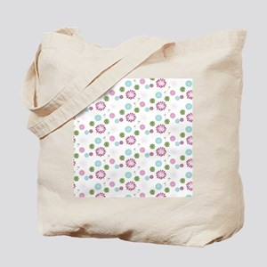 Modern Chic Floral Garden Pattern Tote Bag