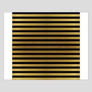 Black Gold Bold Stripes Posters