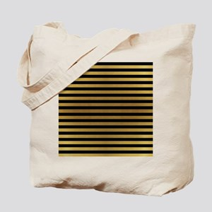 Black Gold Bold Stripes Tote Bag