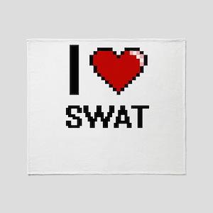 I love Swat Digital Design Throw Blanket