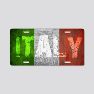 Vintage ITALY Aluminum License Plate