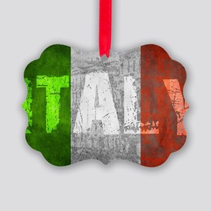 Vintage ITALY Picture Ornament
