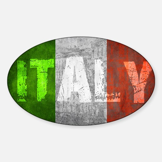 Vintage ITALY Sticker (Oval)