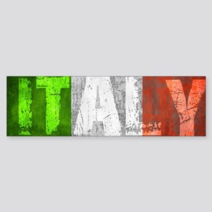 Vintage ITALY Bumper Sticker