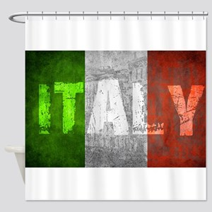 Vintage ITALY Shower Curtain