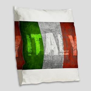 Vintage ITALY Burlap Throw Pillow