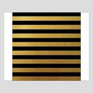 Black Gold Bold Horizontal Stripes Posters