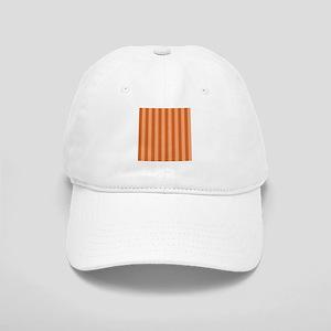 Orange Bold Vertical Stripes Baseball Cap