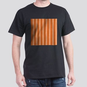 Orange Bold Vertical Stripes T-Shirt
