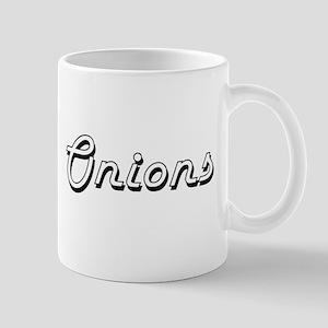 Onions Classic Retro Design Mugs