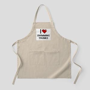 I love Swimming Trunks Digital Design Apron