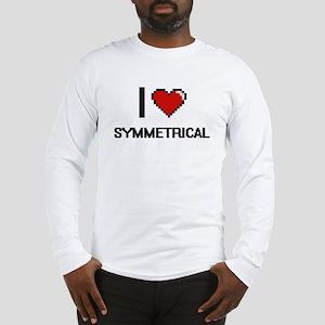 I love Symmetrical Digital Des Long Sleeve T-Shirt