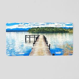 Beautiful Lake Aluminum License Plate