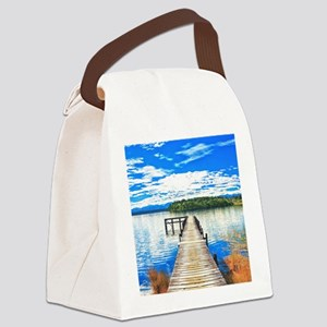 Beautiful Lake Canvas Lunch Bag