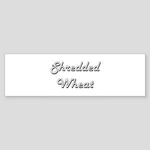 Shredded Wheat Classic Retro Design Bumper Sticker