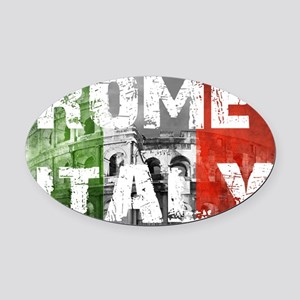 ROME ITALY Oval Car Magnet