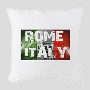 ROME ITALY Woven Throw Pillow