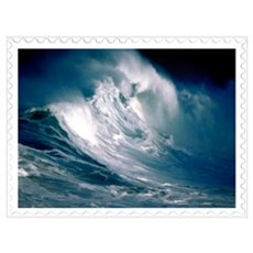 Rogue Wave in the Middle of the Ocean Stamp Poster