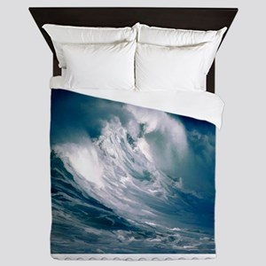 Rogue Wave in the Middle of the Ocean Queen Duvet
