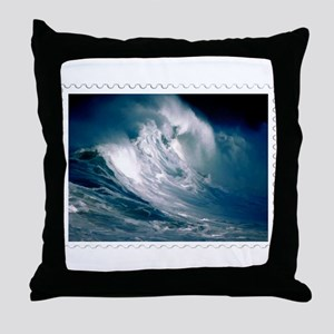Rogue Wave in the Middle of the Ocean Throw Pillow