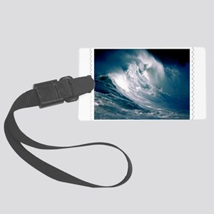 Rogue Wave in the Middle of the Large Luggage Tag