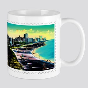 Surreal Colors of Miami Florida Stamp Mugs