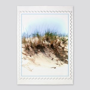 Watercolor Sketch of Sand Dune Stam 5'x7'Area Rug