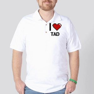 I love Tad Digital Design Golf Shirt