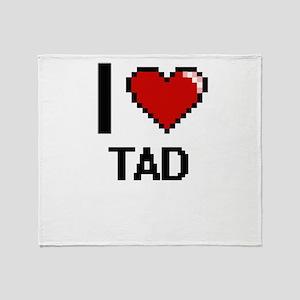 I love Tad Digital Design Throw Blanket