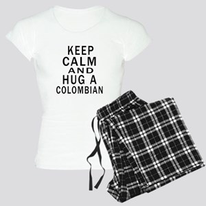 Keep Calm And Colombian Des Women's Light Pajamas