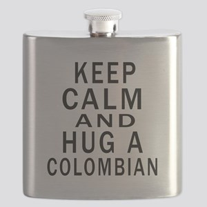 Keep Calm And Colombian Designs Flask