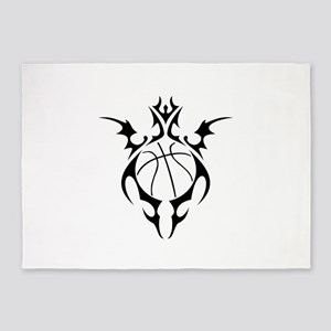 tribal basketball 5'x7'Area Rug