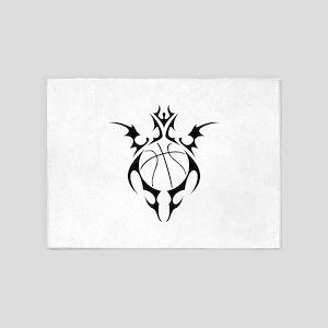 tribal basketball 5'x7'Area Rug