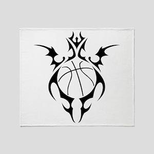 tribal basketball Throw Blanket