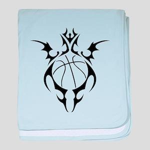 tribal basketball baby blanket