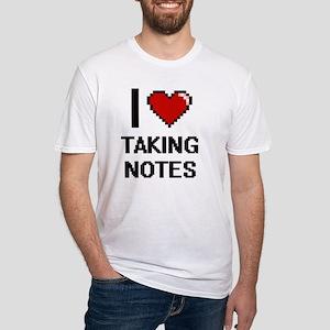 I Love Taking Notes Digital Design T-Shirt