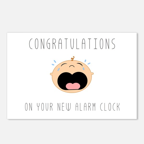 New Alarm Clock Postcards (Package of 8)