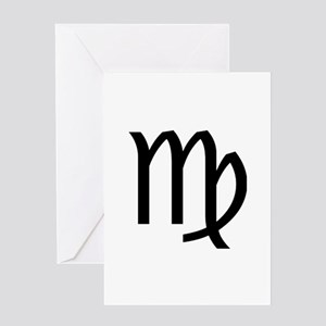 Virgo Symbol Greeting Card