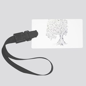 Whimsy tree Large Luggage Tag