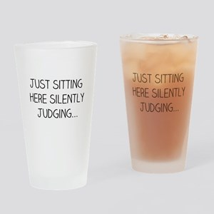 Silently Judging Drinking Glass
